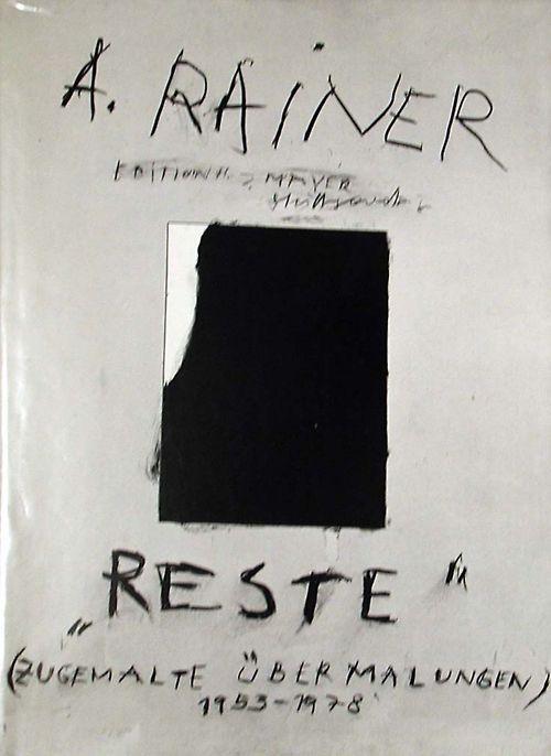 Arnulf Rainer / Rest (Remnants) 1978 via imamuseum.org