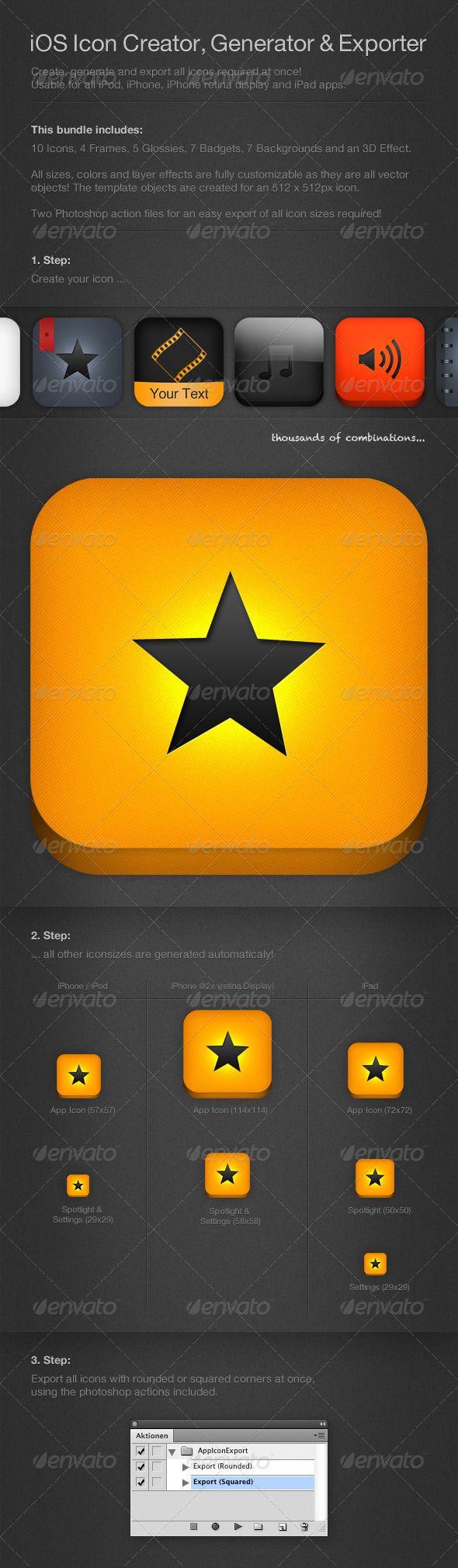 iOS Bundle: Icon Creator, Generator & Exporter