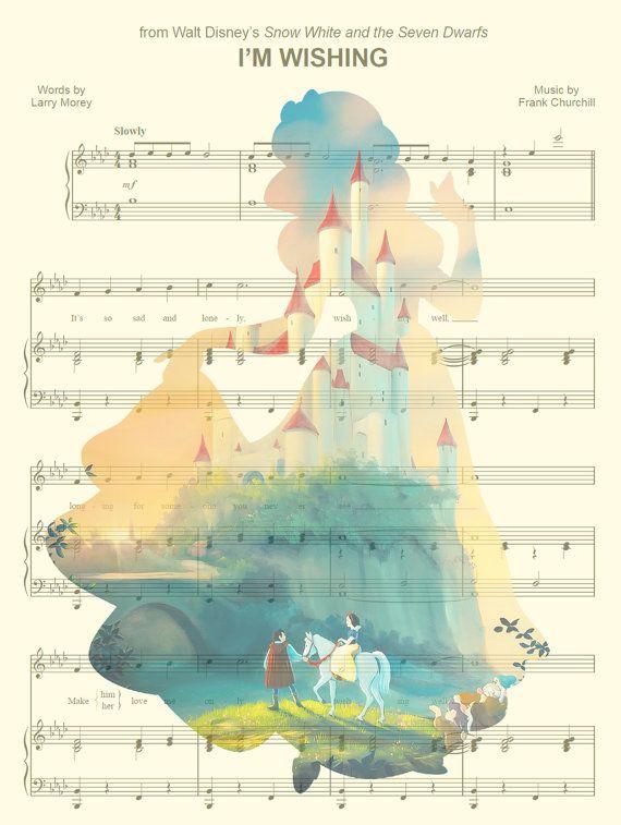 Snow White Art Print par AmourPrints sur Etsy