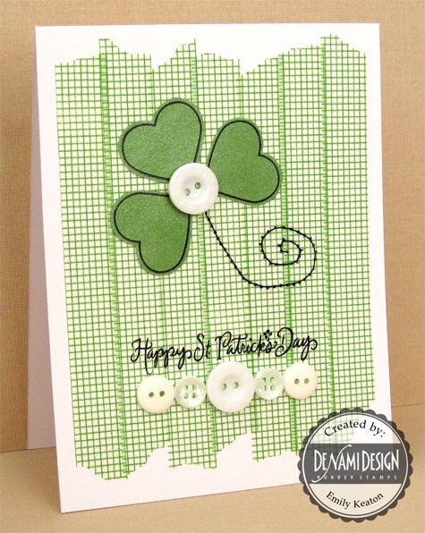 DeNami Irish Clovers Washi Tape card by Emily