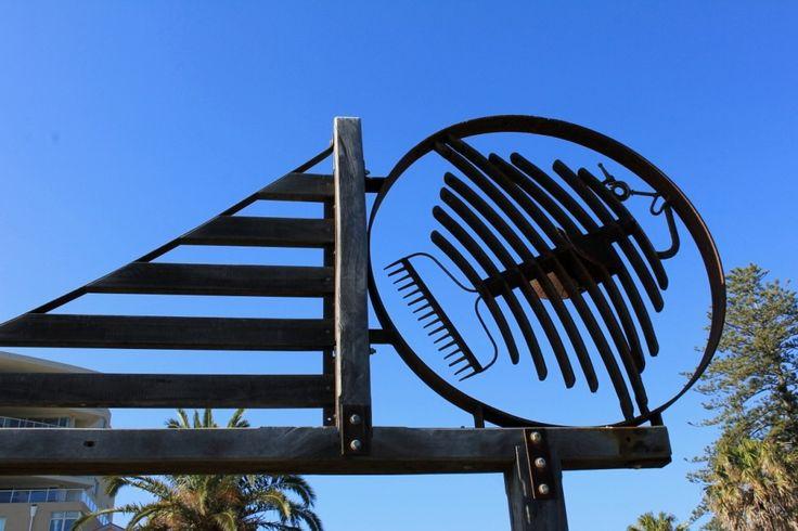 Sculptural piece at Town Green, Port Macquarie.