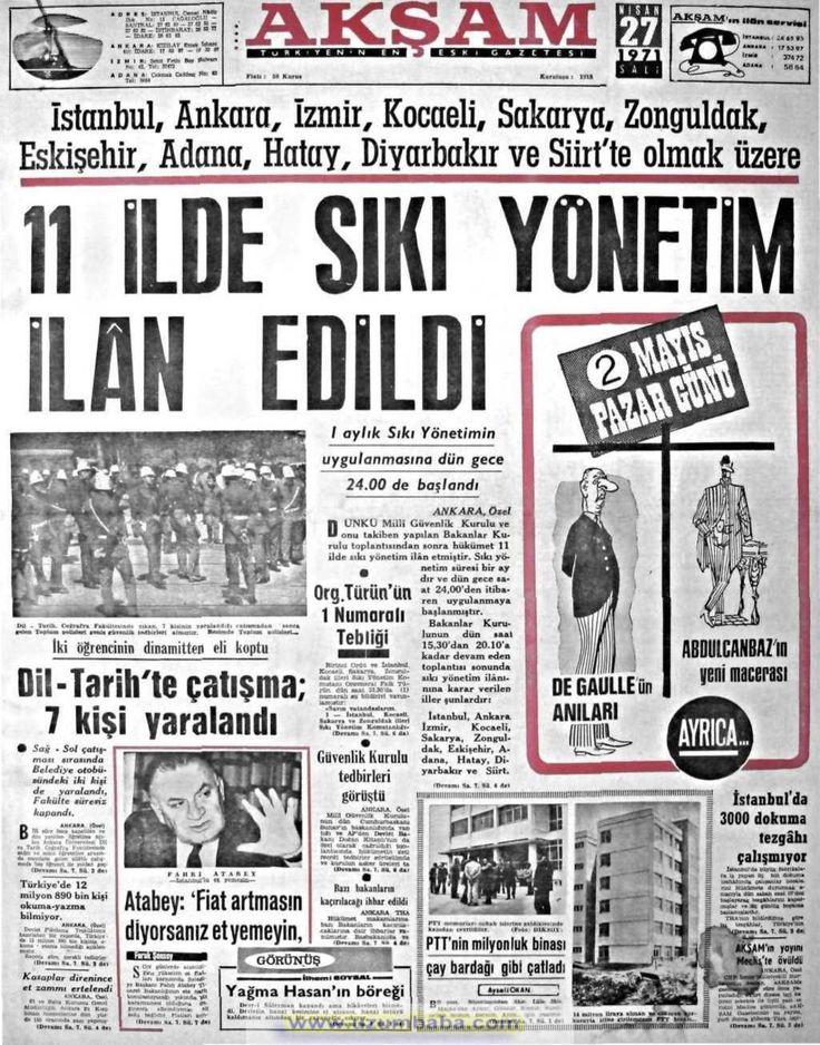 Akşam gazetesi 27 nisan 1971