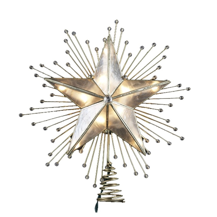 7 best christmas tree star toppers images on pinterest star tree 5 point capiz star tree topper with rays and beads junglespirit Choice Image