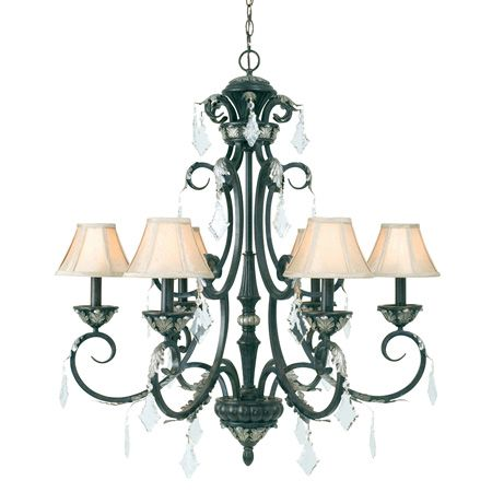 11 best old world chandeliers images on pinterest chandeliers dolan designs 6 light up lighting chandelier from the florence collecti phoenix indoor lighting chandeliers aloadofball Images