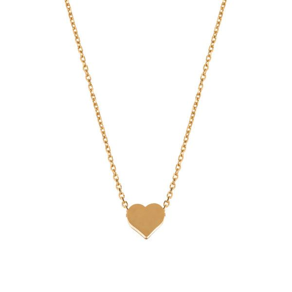 MINNIE GRACE gold Heart charm necklace | La Luce