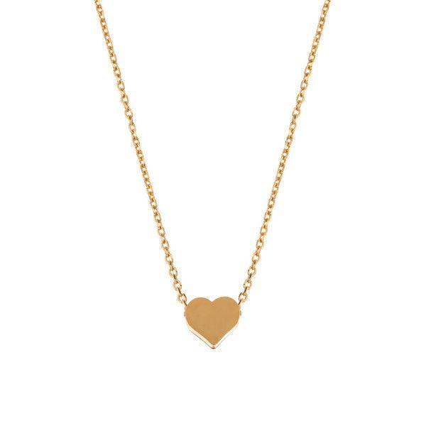 MINNIE GRACE gold Heart charm necklace | La Luce