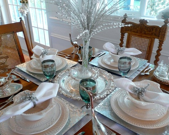 Silver And White Christmas Table Setting Design Pictures Remodel Decor and Ideas & 19 best Christmas table settings images on Pinterest | Christmas ...