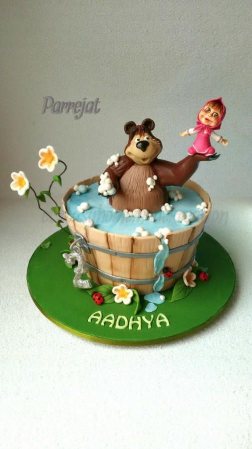 Masha and the Bear - Cake by Parrejat Boraah