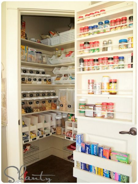 Over-the-door Spice Rack + Foil Organizer + Labeled Pantry Containers and MORE from Shanty 2 Chic