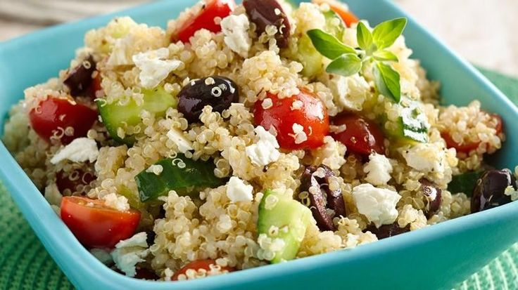 Like any good Peruvian, I grew up enjoying quinoa, so I'm very happy that now I can find it anywhere I go in California. I always try to add this nutritious ingredient to my families diet. For example, this quinoa salad with tomatoes, cucumbers and feta cheese is one that I like to prepare for my sons summer camp lunchbox. It's very easy to prepare and is simply delicious.