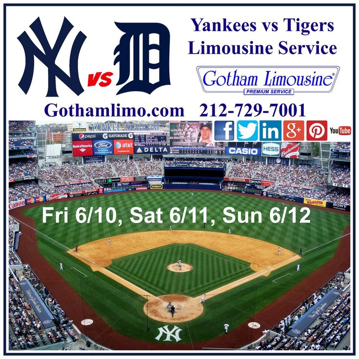 NY Yankees vs Detroit Tigers limo by Gotham Limousine NYC