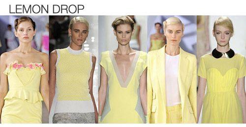 Top color. Womens Spring 2012 trend report, lemon drop
