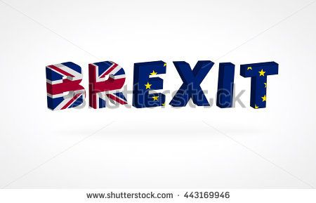 Brexit referendum UK (United Kingdom or Great Britain or England) withdrawal from EU (European Union),British vote leave. The flag of UK & EU Symbolic that represent a lot of concept design to Brexit