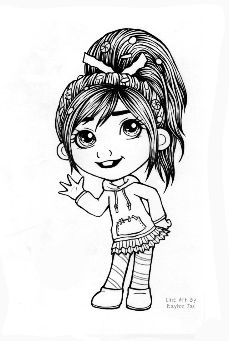 Free Colouring Page Vanellope