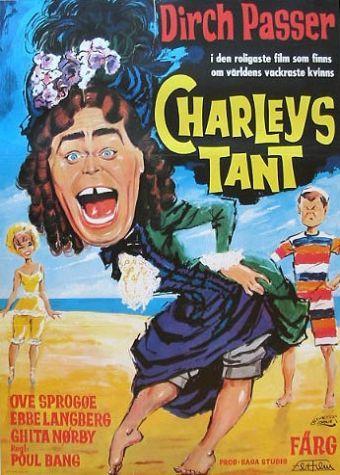 Charleys tante (1959). Om 2 studenterkammerater, der for at kunne være sammen med deres kærester, får deres studenterkammerat til at klæde sig ud som Charleys tant.