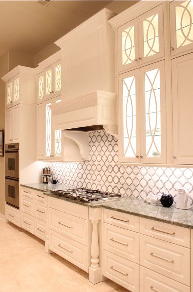 kuchnia angielska biala piekne pomieszczenia mozaika dekoracyjna listwa