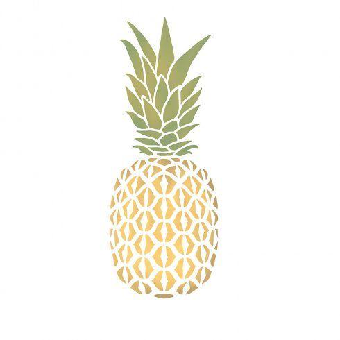 pineapple stencil stencils wall designs diy walls edge cutting pineapples patterns reusable decals printable medium pinapple print decor trendy painting