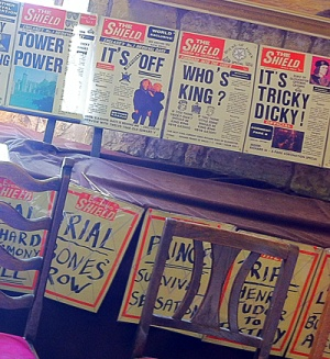 Mock newspaper front pages in the York Richard III Museum in the Medieval Gatehouse - Monk Bar, Blog post: Richard on the holodeck