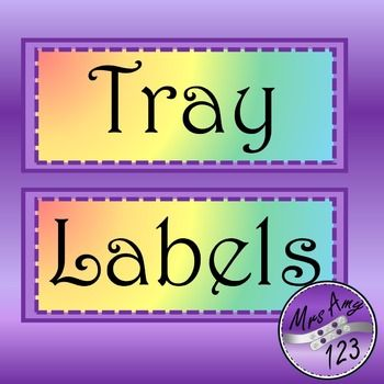 Rainbow Labels -editable and FREE
