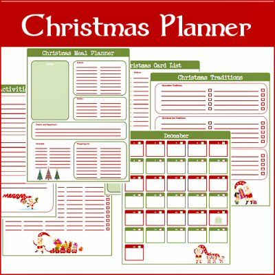Christmas Planner Free Printables.  These would be great tools for the hectic holiday season.