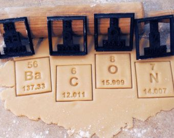 Pick Any Periodic Table of Elements Cookie Cutter by BoeTech