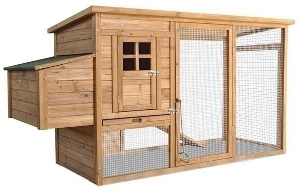 poulailler 2 av enclos nichoir poulailler de luxe avec nichoir externe en bois de sapin non. Black Bedroom Furniture Sets. Home Design Ideas