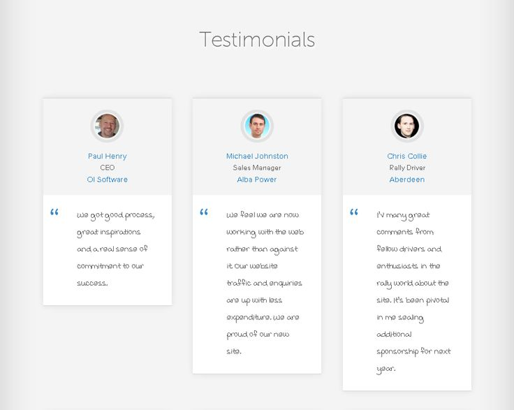 61 Best Testimonial Examples Images On Pinterest