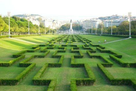 "ista del jardín del Parque de Eduardo VII (en el centro de Lisboa), obra del arquitecto Gonçalo Ribeiro Telles, ""Nobel"" de Arquitectura Paisajística"
