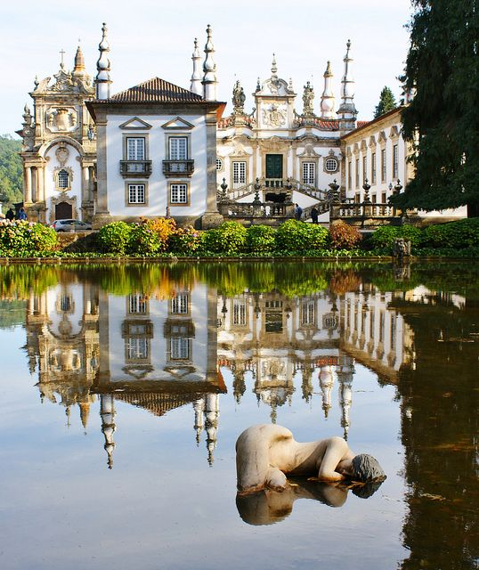 Funky, but cool-looking Mateus Palace, Vila Real.  Architect:  Nicolau Nasoni; built in the 18th century.