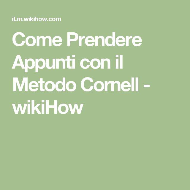 Come Prendere Appunti con il Metodo Cornell - wikiHow