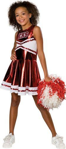 High School Musical Deluxe Cheerleader Costume (Child's Small) Rubie's Costume Co. $32.88. From the Manufacturer Go Gabriella! Go Troy! Kick up your heels in this one of kind cheerleader outfit from Disney's High School Musical! Cheer for your favorite singing couple in this Deluxe Cheerleader Child Costume, straight from Disney's High School Musical! This cheerleader dress is shiny red with a white hem at bottom and EHS across bodice. This above-the-knee-lengt...