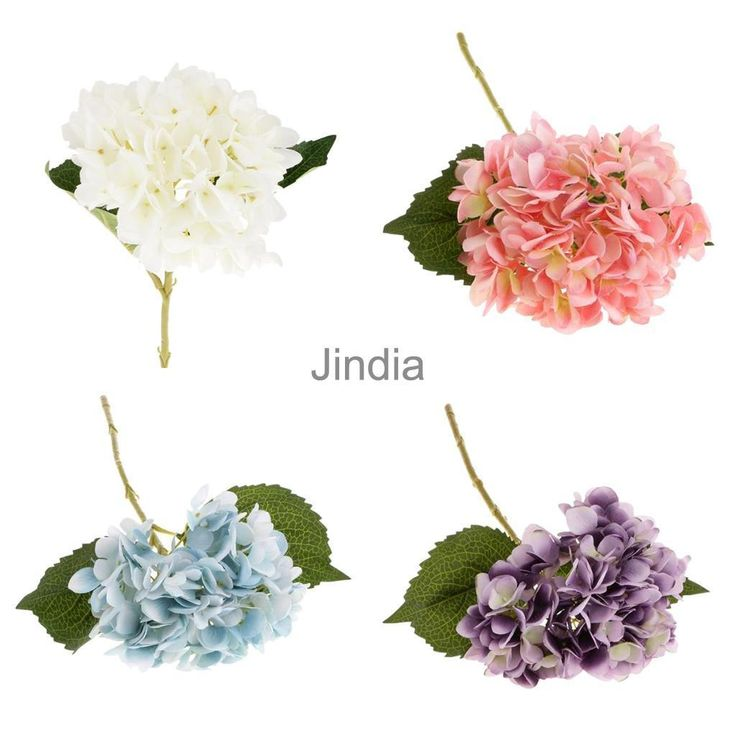 4Pcs Fake Hydrangea Silk Flowers Wedding Home Flower Arrangement Decoration