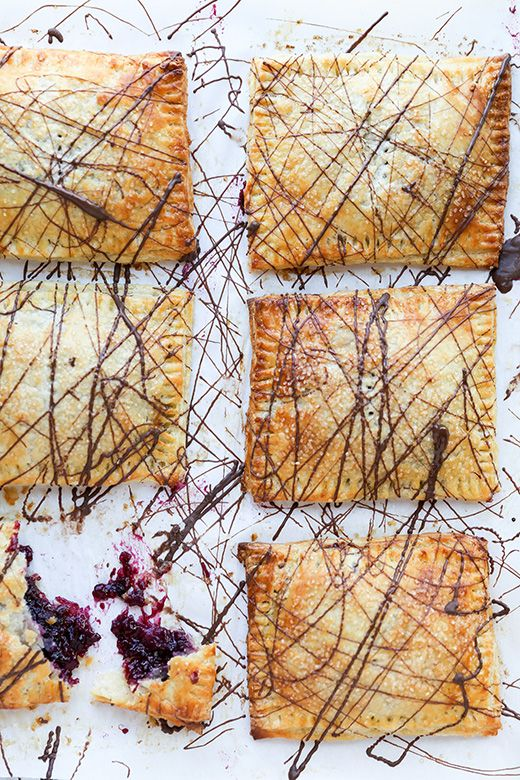 Rhubarb-Berry Hand Pies with Chocolate | www.floatingkitchen.net