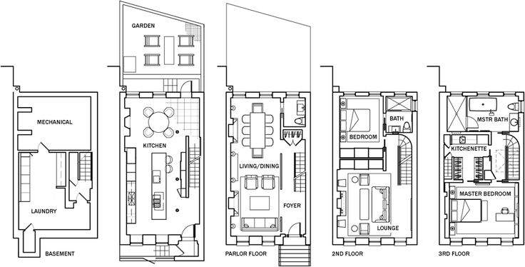 Urban Townhouse Floor Plans: Townhouse Floor Plans Awesome Decoration On Architecture