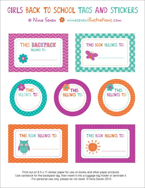 We Love to Illustrate: Back to school *FREE* printables!