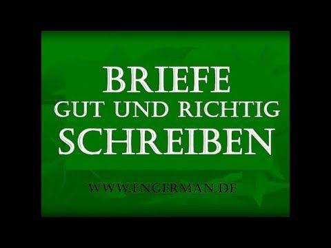 Deutsch Lernen | BRIEFE schreiben | Briefformen - YouTube
