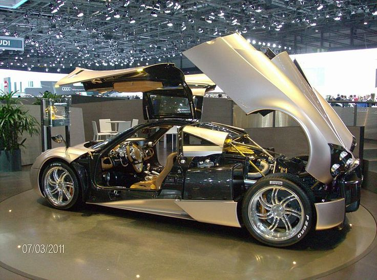 The Pagani Huayra (pronounced why-rah) is an Italian mid-engined sports car produced by Pagani. Succeeding the company's previous offering, the Zonda, it will cost £850,000[1] ($1,150,000) when it goes on sale in 2013. It is named after Huayra-tata, a South American wind god