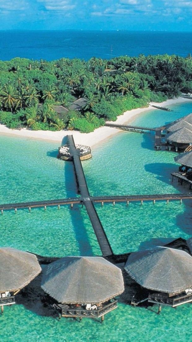 Baros Island, Maldives I want to vacation somewhere with huts on the water to sleep in.