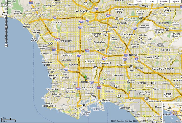 Map Of Los Angeles  Map Of Los Angeles CA Modified From