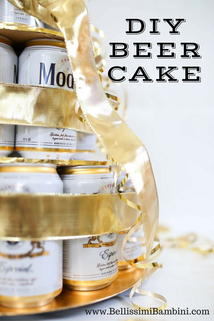 The perfect birthday gift all year round!! Add Birthday Beer and Lotto ticket cake!  Bellissimi Bambini: DIY: Birthday Beer Cake!