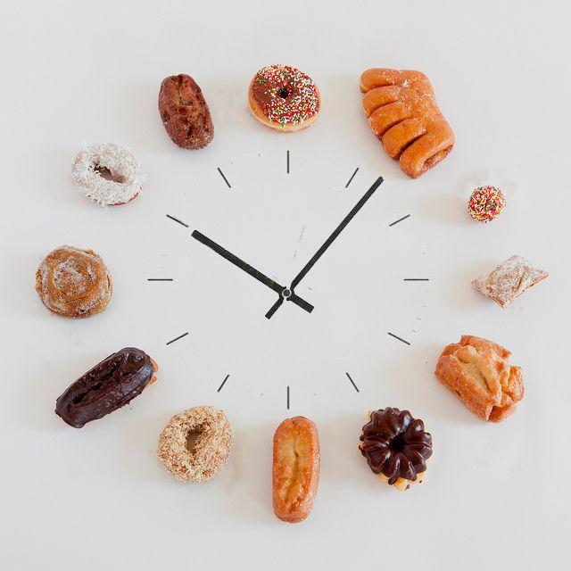 Time to make doughnuts. Cute.