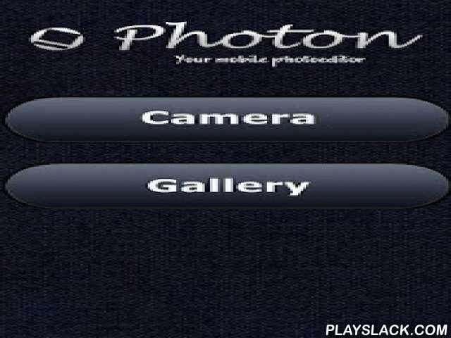 Photon. Mobile Photoeditor  Android App - playslack.com ,  Fast and easy photo editor. Photon is the best way to crop your photos; add text, filters, blur, noise, frame; change brightness, contrast, color of image. You can save photos to your device or publish them to any service you use: Vk.com, Twitter, Facebook, WhatsApp, NoCENS, e-mail etc.