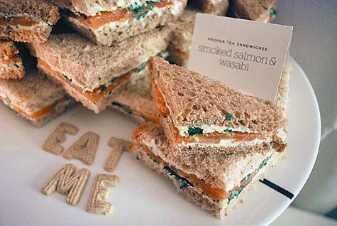 Smoked Salmon and Wasabi tea sandwiches