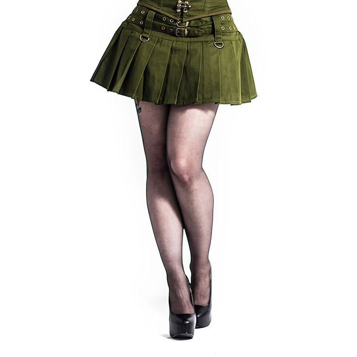 Lucy mini skirt with buckles  - Punk Rock www.attitutdeholland.nl