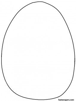 Printable blank Easter egg to decorate coloring pages