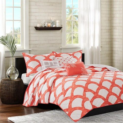 Coral Kokomo Bedding Set - King Size