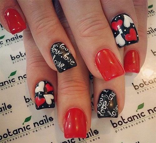 41 best valentines day acrylic nail art images on pinterest valentines day acrylic nail art prinsesfo Gallery