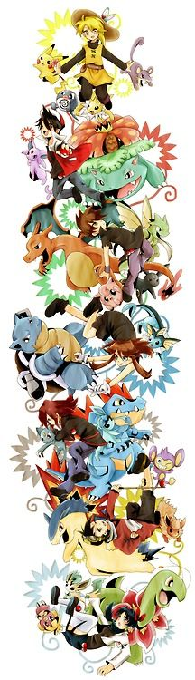 Pokemon The Manga Characters <3