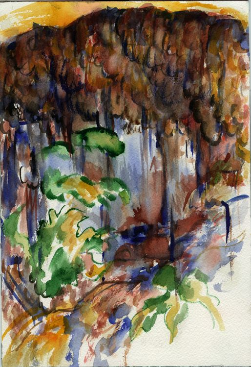 study of earth Watercolour on paper