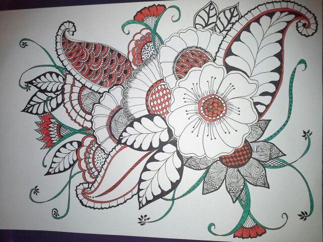 My colour zentangle